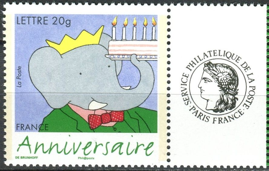 (2006) MiNr. 4102 II. ** - Francie - Gratulační známka: narozeniny