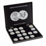 """Mincovní kazeta Volterra pro 1 oz """"American Eagle """"  20 ks stříbrných mincí"""