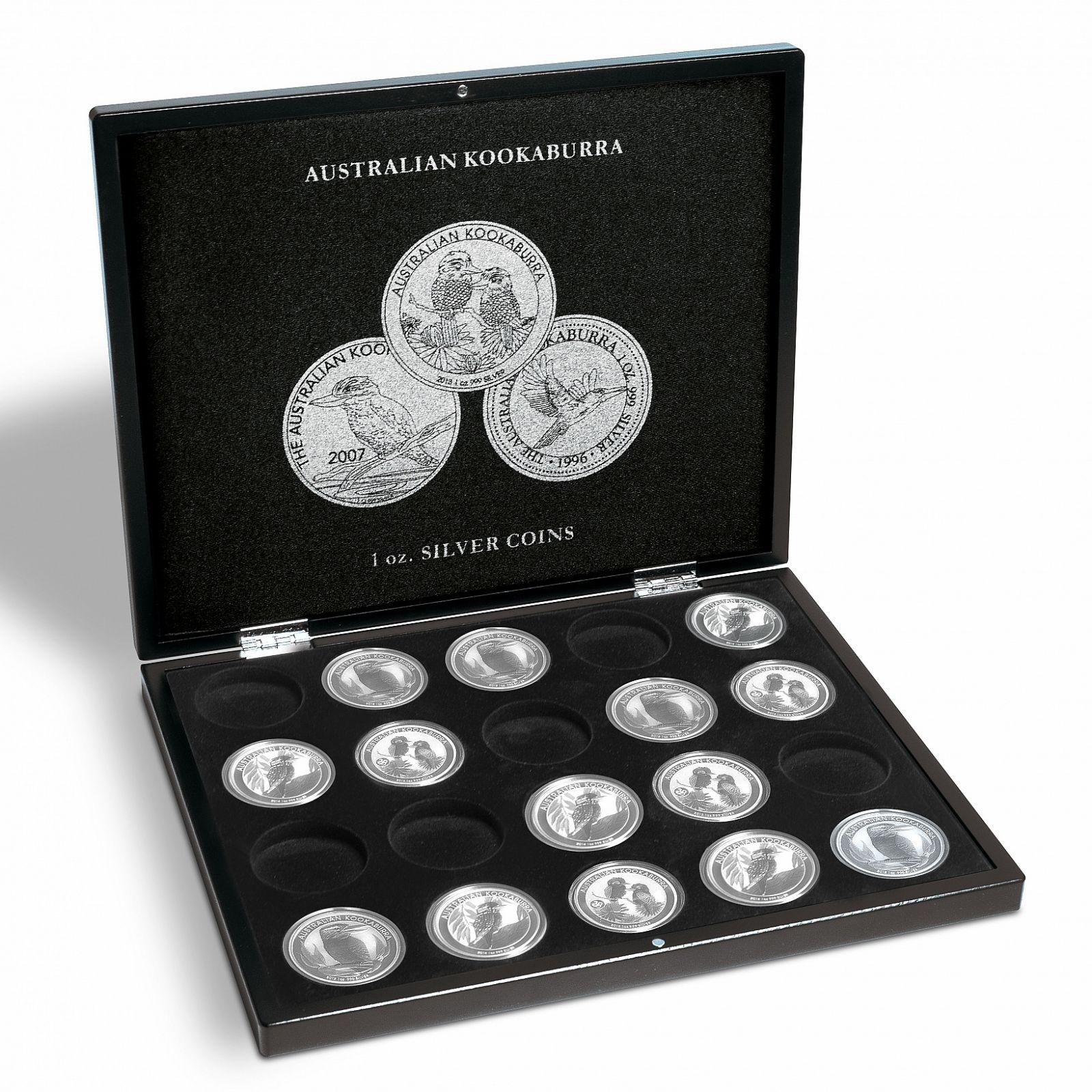 """Mincovní kazeta Volterra pro 1 oz """"Australian Kookaburra """"  20 ks stříbrných mincí"""