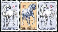 (1996) č. 123-122-123 ** - ČR - 3-bl - Kladrubští koně