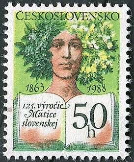(1988) č. 2841 ** - ČSSR - 125. výročí založení Matice slovenské