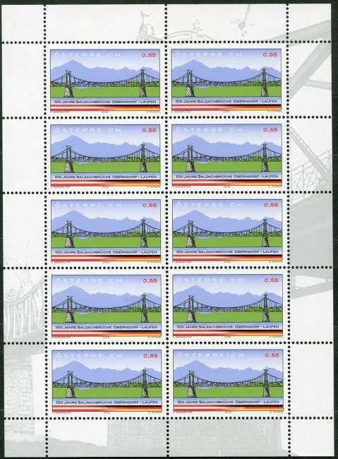 (2003) č. 2426 ** - Rakousko - PL - 100 Jahre Salzachbrücke Oberndorf-Laufen