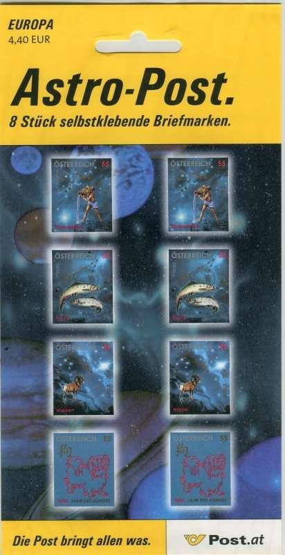 (2006) č. 2568 - 2571 ** - Rakousko - PL - Astrologie - souhvězdí Österreich post