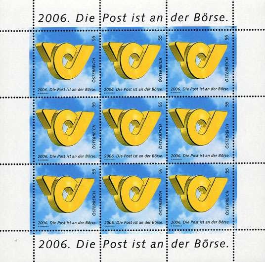 (2006) č. 2600 ** - Rakousko - PL - Pošta na akciovém trhu