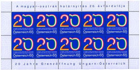 (2009) č. 2823 ** - Rakousko - PL - 20 roků otevřené hranice Maďarska - Rakouska