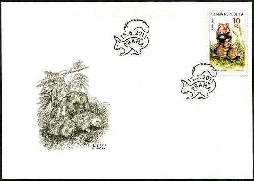 (2011) FDC 688 - Zvířecí mláďata Křeček polní Česká pošta