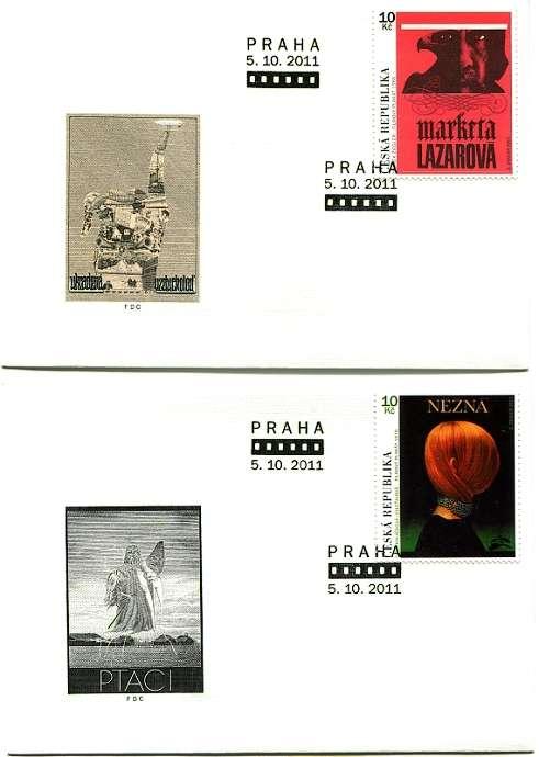 (2011) FDC 699-700 - Český filmový plakát