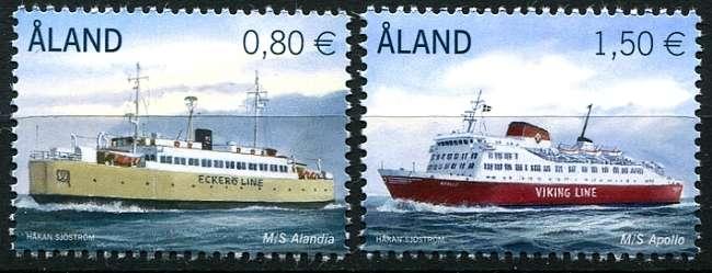 (2011) MiNr. 337 - 338 ** - Aland - námořní lodě
