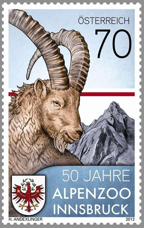 (2012) MiNr. 3019 ** - Rakousko - 50 Jahre Alpenzoo Innsbruck-Tirol