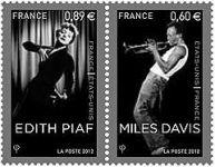 (2012) č. 5400 - 5401 ** - Francie - Edith Piaf, Miles Davis