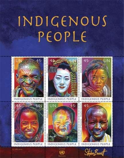 (2012) MiNr. 1315 - 1320 ** - OSN New York - BLOCK 38 - Domorodí lidé 2012