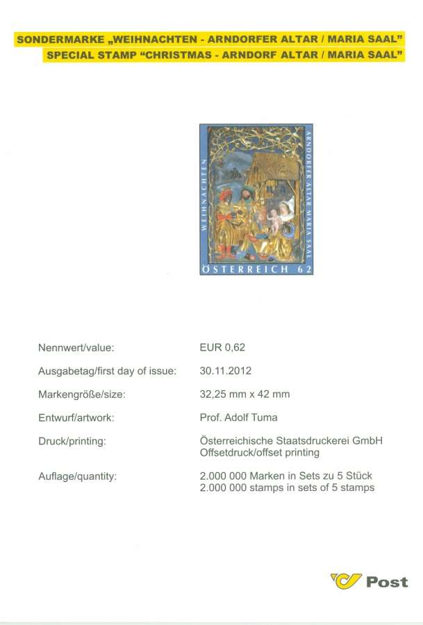 (2012) č. 3041 ** - Rakousko - Vánoce