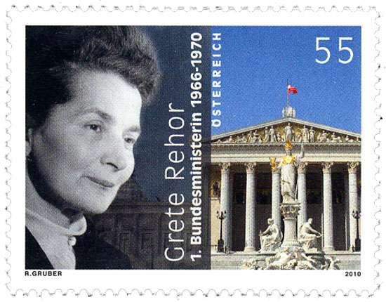 (2010) č. 2880 ** - Rakousko - 100. Geburtstag von Grete Rehor