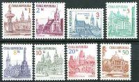 (1993) č. 12-19 ** - ČR - Městská architektura (výplatní známky - série)
