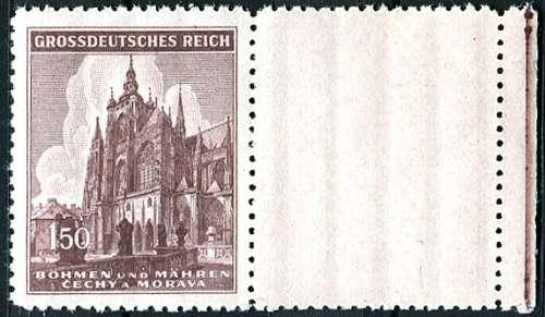Protektorát Čechy a Morava (1944) č. 120 ** - B.ü.M. - Chrám sv. Víta - 600. výročí založení KP