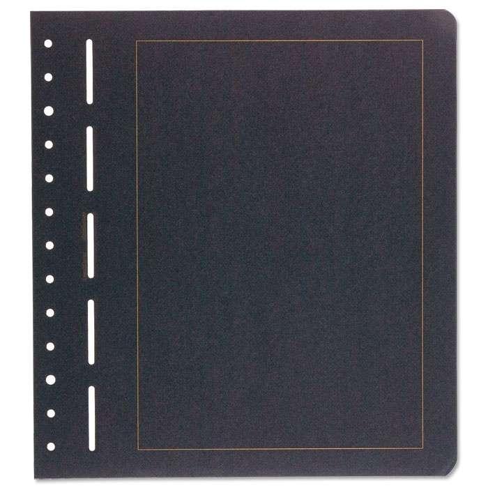 Albové černé listy - se zlatým rámem (12 ks)