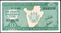 Burundi - (P 33e)  10 Francs (2007) - UNC