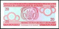 Burundi - (P27d) 20 Francs (2007) - UNC
