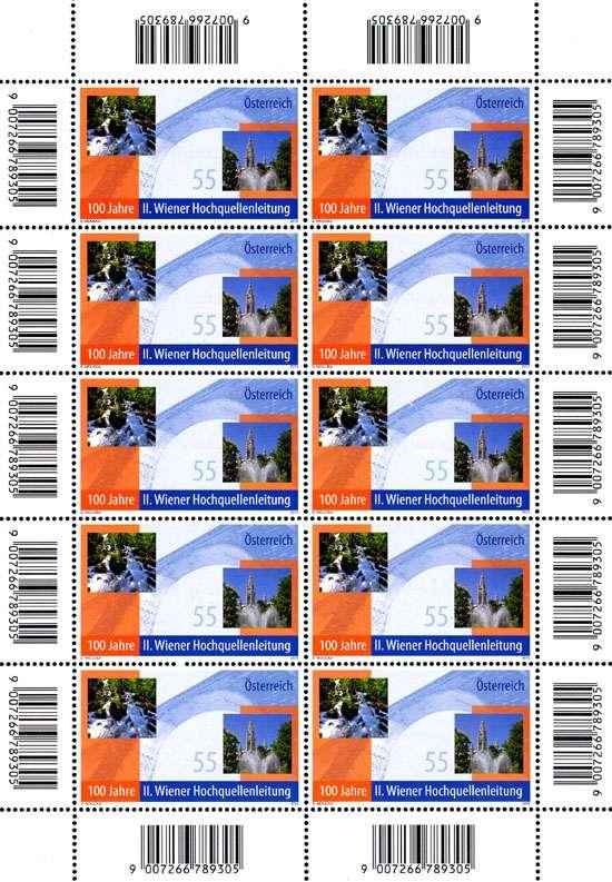 (2010) č. 2876 ** - Rakousko - PL - Wiener Hochquellenleitung