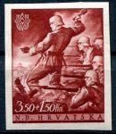 (1944) MiNr. 158 ** - Croatia - 3rd anniversary of Croatia