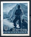 (1944) MiNr. 159 **- Chorvatsko - 3. výročí vzniku Chorvatska