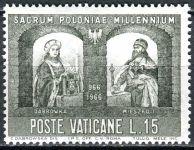 (1966) MiNr. 502 ** - Vatikán - 1000. výročí křesťanství v Polsku