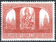 (1966) MiNr. 504 ** - Vatikán - 1000. výročí křesťanství v Polsku - Svatý Stanislaus