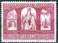 (1966) MiNr. 505 ** - Vatikán - 1000. výročí křesťanství v Polsku - Královna Hedvika