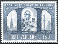 (1966) MiNr. 506 ** - Vatikán - 1000. výročí křesťanství v Polsku - Madona Czestochowa