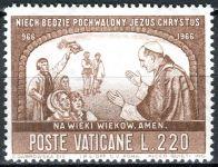 (1966) MiNr. 507 ** - Vatikán - 1000. výročí křesťanství v Polsku - Papež Pavel VI. v Polsku