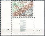 (1972) MiNr. 1036 ** - Monako - KD - datum tisku - Boj proti znečištění