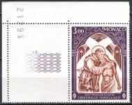 (1972) MiNr. 1040 ** - Monako - KL - číslo archu - Červený kříž v Monaku