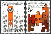 (1981) MiNr. 17 - 18 ** - OSN Vídeň - Mezinárodní rok osob se zdravotním postižením