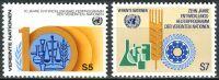 (1981) MiNr. 21 - 22 ** - OSN Vídeň - 10 let program rozvojové pomoci OSN