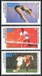 (1988) MiNr. 1353 - 1355 ** - Německo - Mistrovství Evropy ve fotbale, Spolková republika Německo