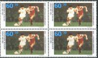 (1988) MiNr. 1353 ** - Německo - 4-bl - Mistrovství Evropy ve fotbale, Spolková republika Německo