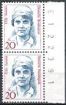 (1988) MiNr. 1365 ** - Německo - 2-bl - č.a. - Ženy německých dějin (V) - Cecily Aussem