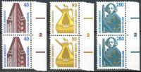 (1988) MiNr. 1379 - 1381 ** - Bundesrepublik Deutschland - 2-er - Sehenswürdigkeiten (IV)
