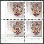 (1988) MiNr. 1386 ** - Bundesrepublik Deutschland - 4-er - Gold- und Silberschmiedekunst