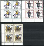 (1989) MiNr. 1437 - 1439 ** - Německo - 4-bl - Poštovní doprava po celá staletí