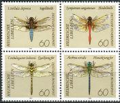 (1991) MiNr. 1546 - 1549 ** - Německo - 4-bl - vážky