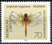 (1991) MiNr. 1550 ** - Německo - vážky