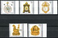 (1992) MiNr. 1631 - 1635 ** - Německo - Vzácné staré hodiny z německých sbírek