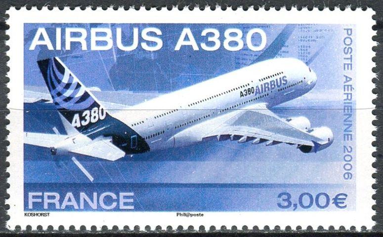 (2006) MiNr. 4110 ** - Francie - Uvedení osobních letadel Airbus A380