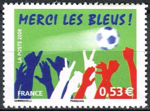 (2006) MiNr. 4125 ** - Francie - Finále francouzského národního týmu na mistrovství světa ve fotbale v Německu