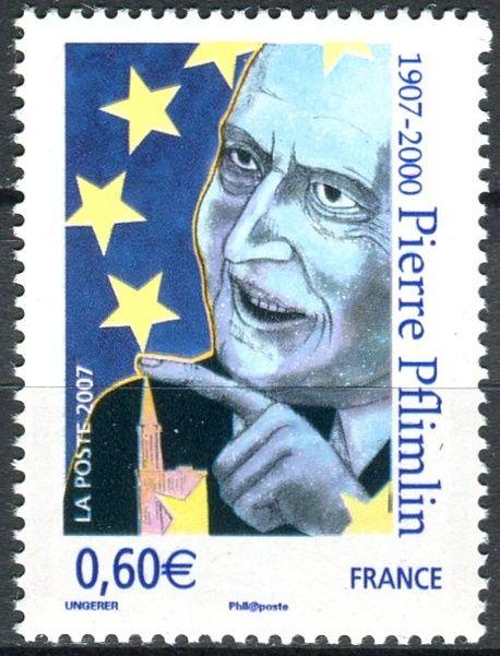(2007) MiNr. 4292 ** - Francie - 100. narozeniny Pierra Pflimlina - Evropský politik a starosta Štrasburku