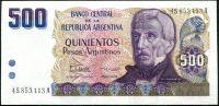 Argentina (P 316) - 500 Pesos Argentinos (1984) - UNC
