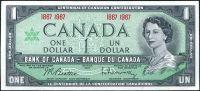 Kanada - (P 84a) 1 DOLAR (1967) varianta 1867-1967 - UNC