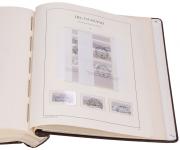 Sbírka raž. SRN  1960 - 1987 + vat. pérové desky a zaskl. listy Leuchtturm
