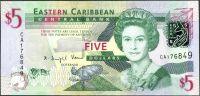 Východokaribský dolar (P 47) - 5 Dollars (2008) - UNC